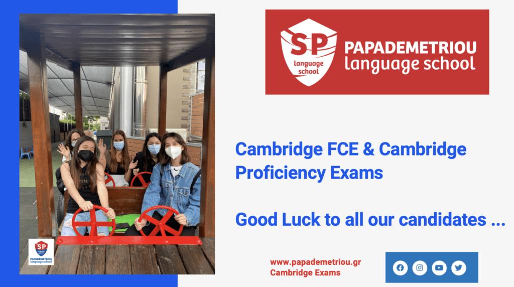Cambridge FCE, Proficiency & Business Exams info